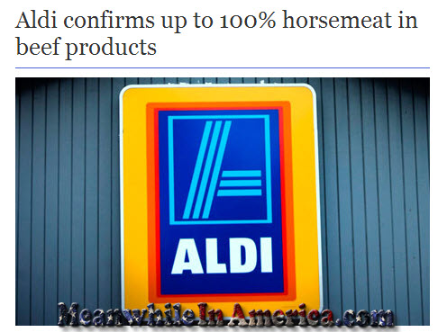 Waiter! Theres Dead Horse in My Dead Cow!   aldi horse meat in beef meanwhileinamerica