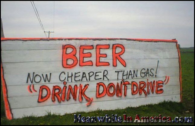 Beer Is Now Cheaper Than Gas   beer now cheaper than gas meanwhileinamerica