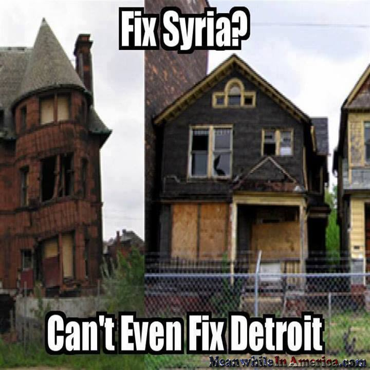 Let them fix themselves.   fix syria cant even fix detroit meanwhileineamerica