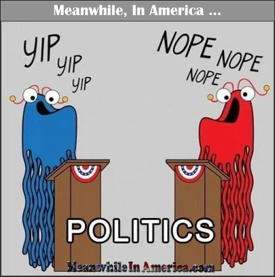 Yip! American Politicians Have Now Come Full Circle. Nope!   yip nope aliens sesame street politics Meanwhile In America