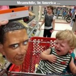 If Ya Did There Wouldnt Be a Shortage of AssWipes (Toilet Paper)   kid crying obama mask shopping cart Meanwhile In America 590x476 150x150