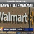 Woman Glued to Walmart Toilet   woman glued to toilet walmart Meanwhile In America 120x120
