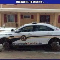 Couldve At Least Cleaned the Windshield Off   cop car on blocks stolen wheels Meanwhile In America 120x120