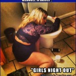 Woman Glued to Walmart Toilet   drunk white chick over toilet Meanwhile In America 150x150