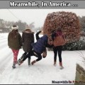 Nothing Funnier Than Watching People Slip On Ice!   girls funny slip ice Meanwhile In America 120x120