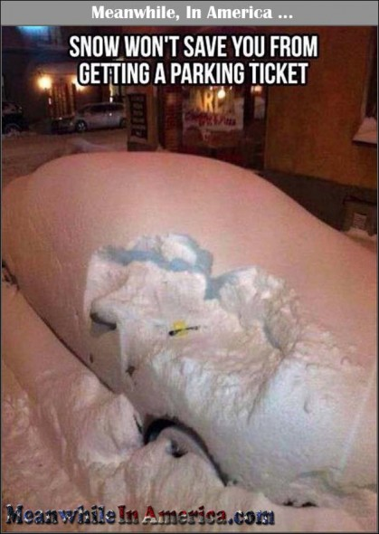 snow parking ticket Meanwhile In America