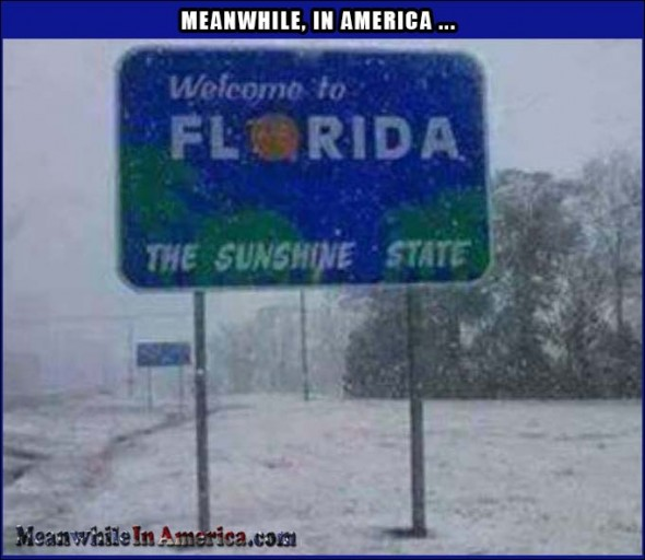 florida sunshine state snow Meanwhile In America