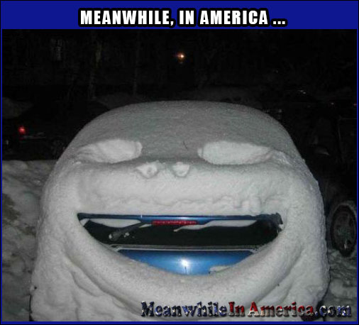 Every Snowy Cloud Has a Smiley Lining   snow Meanwhile In America 10