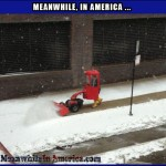 Easiest Way to Get the Kids to Plow the Snow   snow Meanwhile In America 19 150x150c
