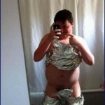 Best Mancave Ever?   selfie boy in foil wtf Meanwhile In America 150x150c