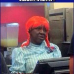 You Named It the Big King You Say? ...   black dude in wendys wig Meanwhile In America 150x150c