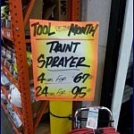 Our House, Our Rules   funny taint sprayer hardware store meanwhile in america 150x150c