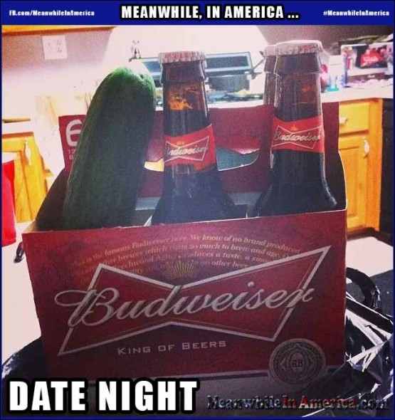 Happy Friday, Ladies!   Budweiser Beer Cucumber Date Night Meanwhile In America 555x590