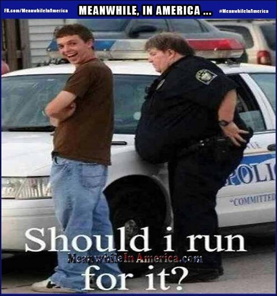 We Were Going to Make a Pig Joke ... But Thats Just Way Too Easy.   Ridiculously Fat Cop Arrest Meanwhile In America 553x590