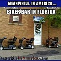That Awkward Moment When You Realize Bikers Are No Longer Tough   Biker Bar Florida Hoveround Scooters Meanwhile In America 120x120c