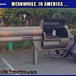 #GunsSaveLives. lol   GunGrill Meanwhile In America 150x150c