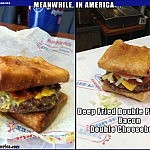 Chocolate Covered Bacon You Say? I Think Ive Died & Gone to Heaven!   double pizza puff burger Meanwhile In America 150x150c