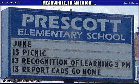 We Believe that Children Are Our Future ...   funny mispelled school sign Meanwhile In America 590x356