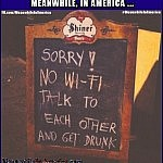 no wifi talk to each other drunk sign