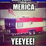 Walking into 2020 like ...   patriotic trailer Meanwhile In America 150x150c