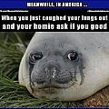 Yea, Im Good.   seal cough you good homie Meanwhile In America 120x120c