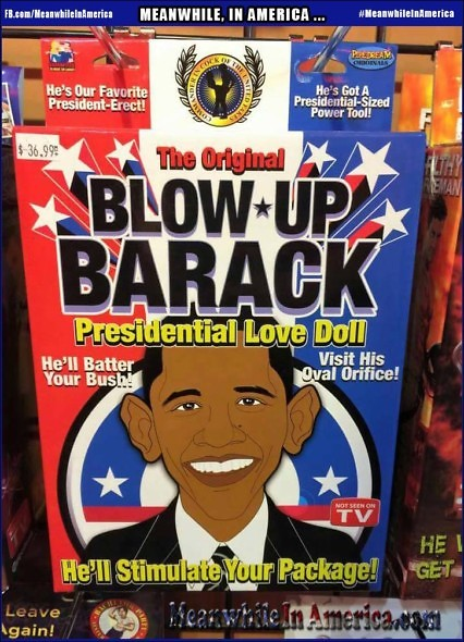 Sith in the Sheets ...   Meanwhile In America Barack Obama Blow Up Doll 426x590