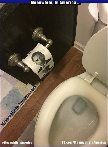 Apparently Obamacare Does Cover That ...   Meanwhile In America Barack Obama Toliet Paper Roll 434x590