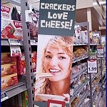 Meanwhile, In Walmart ...   Meanwhile In America com Crackers Love Cheese 150x150c